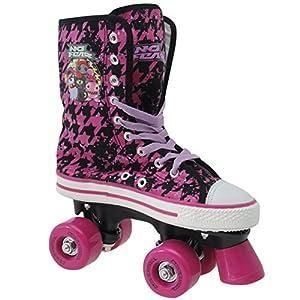 No Fear Canvas Quad Kinder Maedchen Rollschuhe Diskoroller Roller Skates