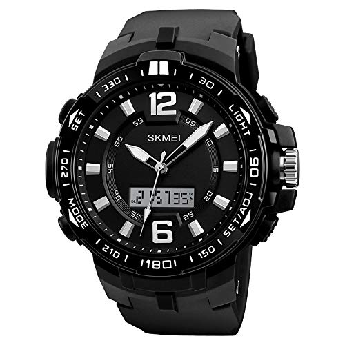 Skmei Big Dial Analog Digital Chronograph Waterproof Sports Watch for Men and Boys