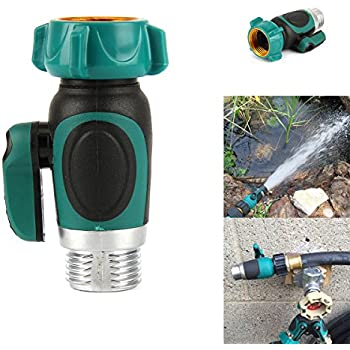 Garden Hose With Shut Off Adapter,SOONHUA Garden Hose Quick Connect Outside Spigot  Extender/