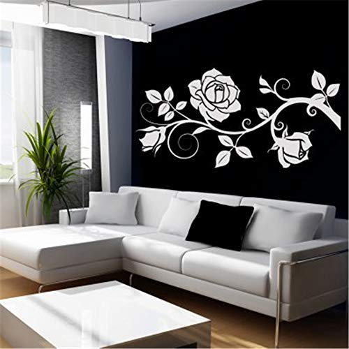 paecui DIY Removable Vinyl Decal Mural Letter Wall Sticker Flower Vines Decoration Stickers ()