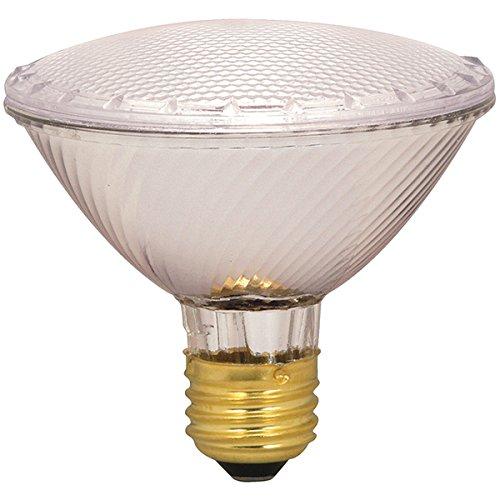 Satco 60PAR30/HAL/XEN/WFL/120V Halogen Halogen PAR Light, 60W E26 PAR30, Clear Bulb [Pack of 6]