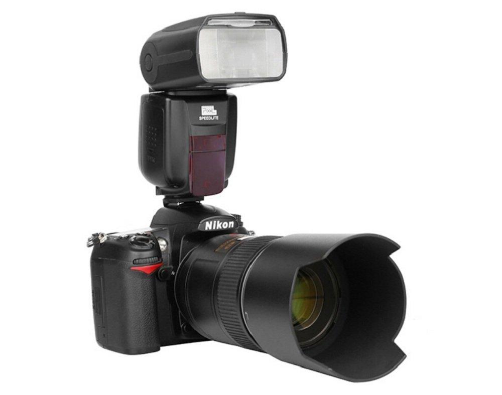Pixel X800N Standard Wireless Flash Speedlite with TTL HSS Functions+Pixel Lens Cap+20 Color Filtersfor Nikon D7100 D7000 D5100 D5000 D3200 D3100 D600 D90 D5300 D750 Cameras by PIXEL