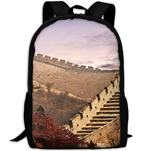 Phyllis Walker Backpack Great Wall China Print Fashion College Double Shoulder Bag Travel Outdoor Camping Crossbody Bags for Men -