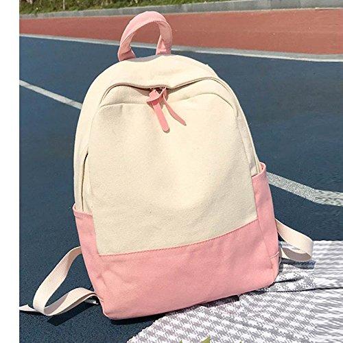 Bag Para Dama School Moda Laptop Student Mujeres Chica Libros Shoulder Majome Rosa Mochila Lienzo v5S8Bqw