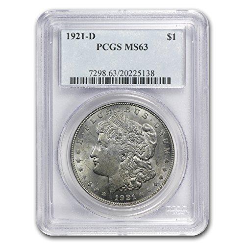 1921 D Morgan Dollar MS-63 PCGS $1 MS-63 PCGS
