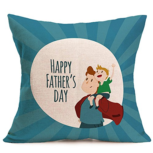 Littay Pillowcase 17inch x 17inch,Happy Father Day Sofa Bed Home Decoration Festival Pillow Case Cushion Cover