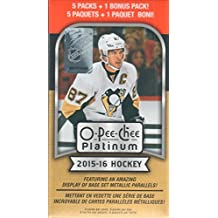 2015 2016 O Pee Chee PLATINUM Series NHL Hockey Unopened Blaster Box of Packs Made By Upper Deck with Chance for Amazing Metallic Parallels