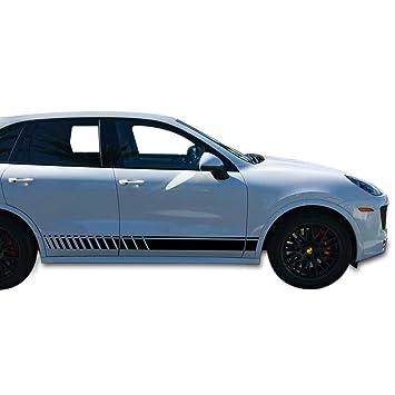 Bubbles Designs Set of Lower Sport Stripes Decal Sticker Vinyl for Porsche Cayenne 2011-2017