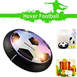 Airpower Soccer Disk, WINGLESOUT Hover Soccer Ball with Powerful LED Light and Foam Bumpers Training Floating Football Disk for Girls and Boys