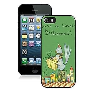 Custom-ized Phone Case Iphone 5S Protective Cover Case Christmas Bird iPhone 5 5S TPU Case 1 Black