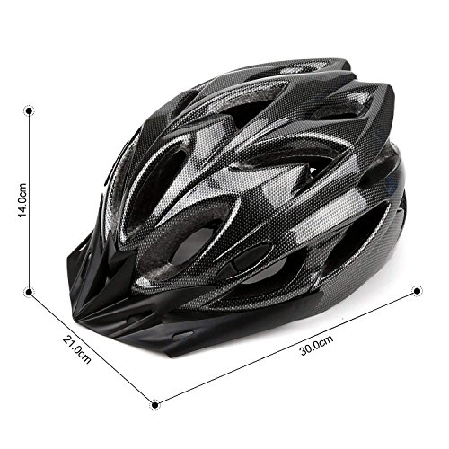 Q-Yuan Lightweight Bike Helmet, CPSC Certified Cycle Helmet Adjustable Thrasher for Adult with Detachable Liner with Water and Dust Resistant Cover by Q-Yuan (Image #3)