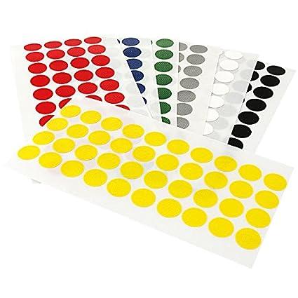 Farbe Bunte Klebepunkte Menge /& Durchmesser w/ählbar PE-beschichtete Markierungspunkte Klebepunkte farbig