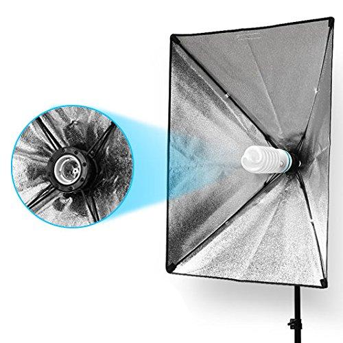 StudioFX 800W Photography 20''x28'' EZ Softbox with E27 Socket Light Lighting Kit (Set of 2) H601S2 by StudioFX (Image #2)