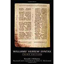 Williams Hebrew Syntax, Third Edition