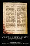 img - for Williams Hebrew Syntax, Third Edition book / textbook / text book