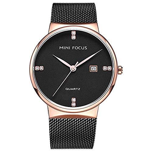 Relojes Hombre Reloj Negro Elegante Malla Minimalista ...