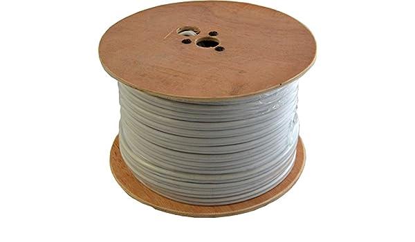 100 M Cable coaxial de escopeta, 2 Núcleos color blanco: Amazon.es: Electrónica