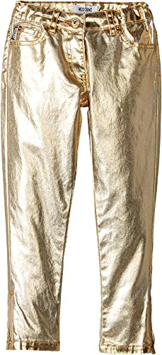 Moschino Kids Girl's Pants w/Logo On Back Pockets (Little Kids/Big Kids) Gold 8 Big Kids by Moschino Kids