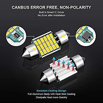 AutoLite Led Festoon Bulbs 31mm 1.22