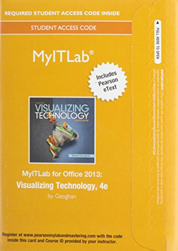 MyITLab with Pearson eText --  Access Card -- for Visualizing Technology