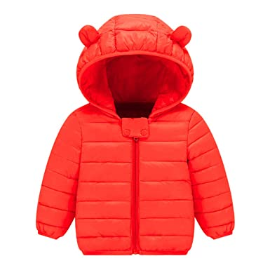 655475109 Zerototens Unisex Baby Winter Coat,0-4 Years Old Toddler Kids Clothes Boys  Girls Solid Long Sleeve Padded Coat Thick Warm Zipper Jacket Children ...