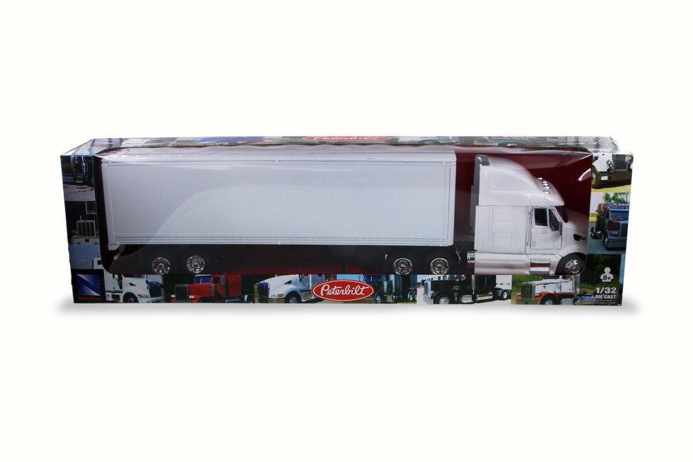 New Ray SS-15553D 1 Peterbilt Model 387 43 Long Haul Trucker Plain White