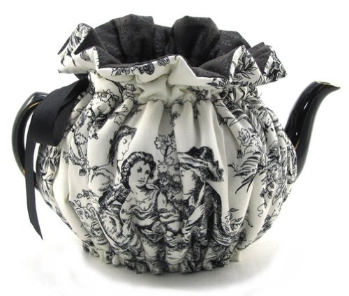 Tea Cozy Fully Lined in Contrast Fabric 4 Cup Size (Romantic Toile)