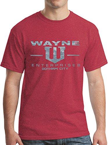 Wayne Enterprises TShirt Gotham City Superhero Shirt Heather Red XL (Gotham City Halloween)