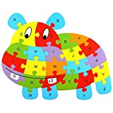 Arich Kids Wooden Animal Jigsaw Puzzle Alphabet Learning Educational Toy--Cows