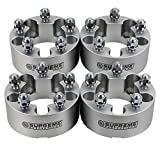 Supreme Suspensions - (4pc) 1983-2012 Ford Ranger 1.5'' Wheel Spacers 5x4.5'' (5x114.3mm) with 1/2''x20 Studs [Silver]