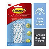 Command Decorating Clips, Clear, 20-Clip, 6-Pack