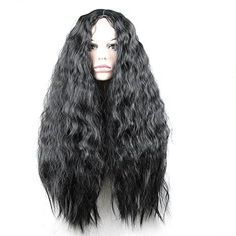 24 Pulgadas rizado pelo sintético Pelucas Para Mujeres Niñas Fiesta de Halloween disfraz Cosplay peluca