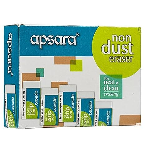 20 Erasers  Pencil Erasers  Set of 20 Apsara Non Dust Eraser  Non Dust