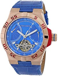 Mens VC/1049BLRG The Master Automatic Rose Gold-Tone Multi-Function Blue Leather