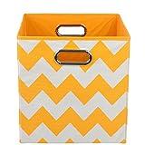 Modern Littles Storage Bin Bold Orange Chevron