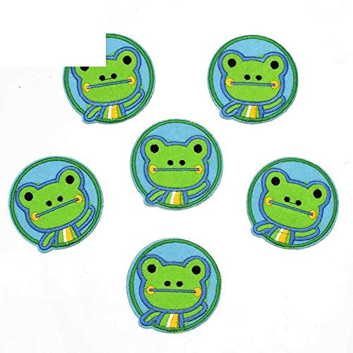 10Pcs/Lot Cartoon Frog Appliqued Iron on Animal Patch Patchwork Needlework Sewing Patches Clothing Dress Garment Sticker Lovely Accessories Supplier ()