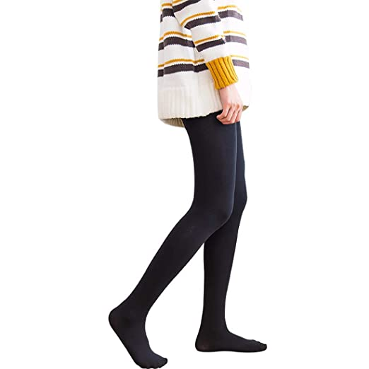 b32035d1376f9 Amazon.com: Women Winter Cashmere Stockings Thick Warm Wool Tights ...