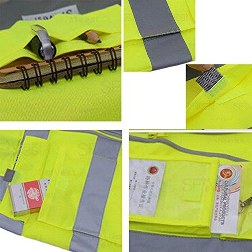 GOGO SECURITY 8 Pockets Hi Vis Safety Vest-Blue-L by GOGO (Image #3)