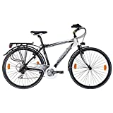 Lombardo Mirafiori 270M Commuting Bike, 700c Wheels, Men's Bike, Black/White, 99% Assembled, 17 inch Frame, 21 inch Frame