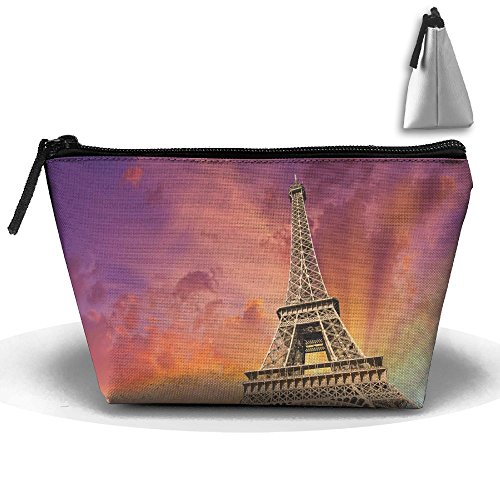 Portable Travel Eiffel Tower Clipart Arts Storage Pouch Cosmetic Toiletry Bags Organizer Travel Accessories]()