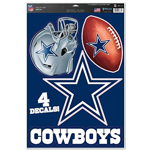 WinCraft NFL Dallas Cowboys WCR41268014 Multi-Use Decal, 11