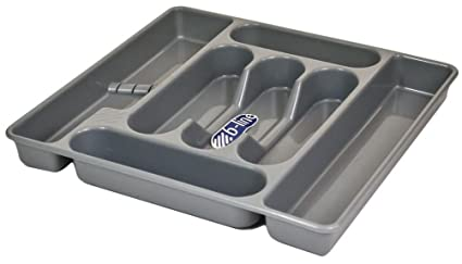 Bandeja para cubiertos (7 compartimentos, plástico oragniser – Organizador de Almacenamiento Cubiertos cajón