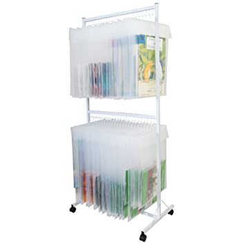 Classroom Innovations Book Organization;Book Storage;Big Book Storage  Classroom Display Stand, White