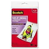 "Scotch 4"" x 6"" Self-Sealing Laminating 9.6 Mils"
