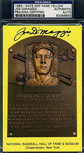 JOE DIMAGGIO PSA DNA Coa Autograph Gold HOF Plaque Hand Signed Authentic