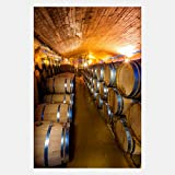 eFrame Fine Art | Wine Barrel Cellar, Cape Winelands, Winery South Africa 2 of 2 by Blaine Harrington 16'' x 24'' Print Wall Art for Wall or Home Decor (Black, Brown, White Frame or No Frame)