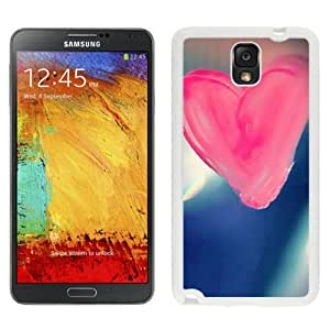 New Beautiful Custom Designed Cover Case For Samsung Galaxy Note 3 N900A N900V N900P N900T With Pure Pink Love Heart Drawn On Glass Window (2) Phone Case