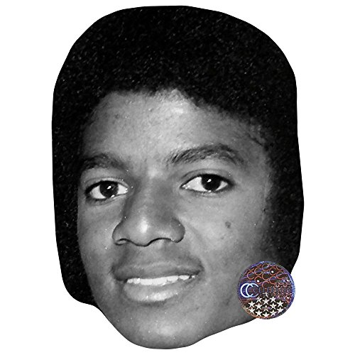 Michael Jackson (B&W) Celebrity Mask, Card Face and Fancy Dress Mask -