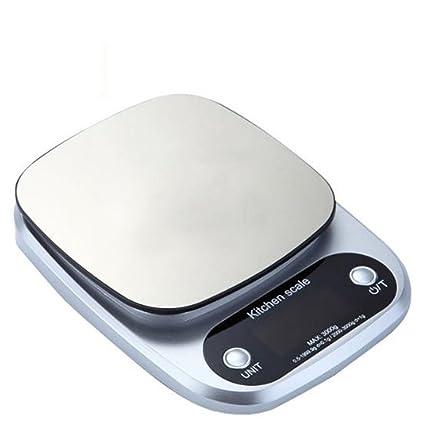 lerda pe Balanza de Cocina Digital 10 kg Balanzas electrónicas Mini con Pantalla LCD, baterías
