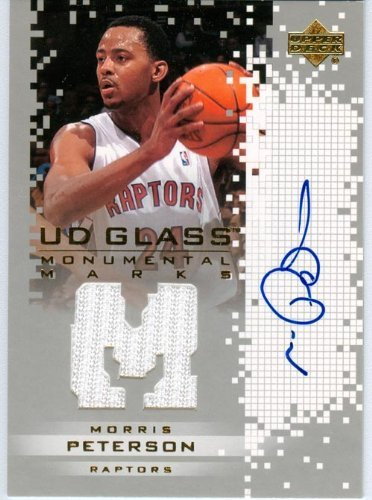 2004 Upper Deck Glass Authentic Morris Peterson Autograph Game Worn Jersey - Authentic Glasses 2004